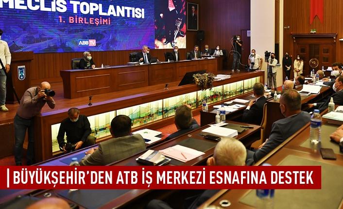 Büyükşehir'den ATB iş merkezi esnafına destek