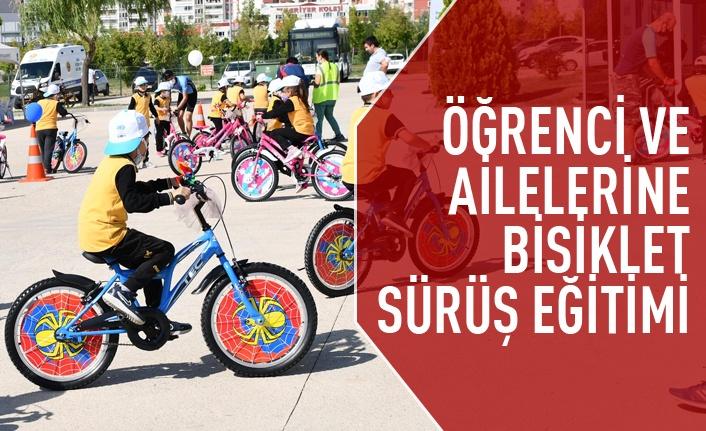 Ankaralı öğrenci ve ailelerine bisiklet sürüş eğitimi